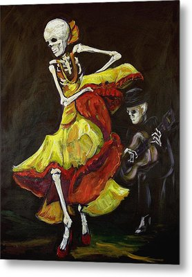 Flamenco Vi Metal Print by Sharon Sieben