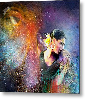 Flamencoscape 04 Metal Print by Miki De Goodaboom