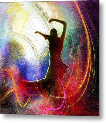 Flamencoscape 16 Metal Print by Miki De Goodaboom