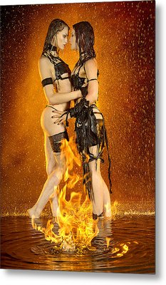 Flames Of Attraction Metal Print