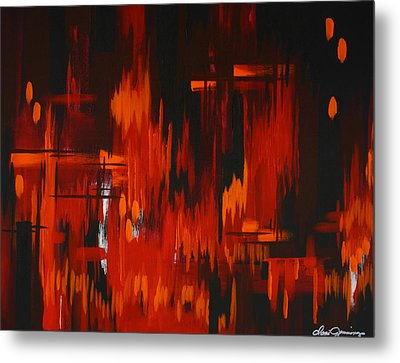 Flames Of Passion Metal Print by Dani Abbott