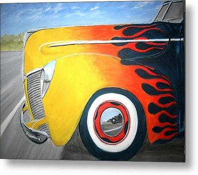 Metal Print featuring the painting Flames by Stacy C Bottoms