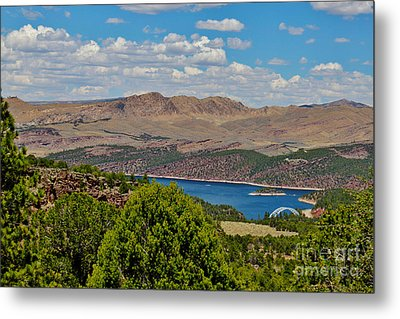Metal Print featuring the photograph Flaming Gorge by Janice Rae Pariza