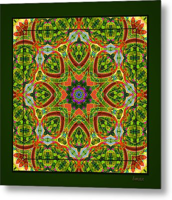 Metal Print featuring the photograph Flaming Neck Kaleidoscope by Barbara MacPhail
