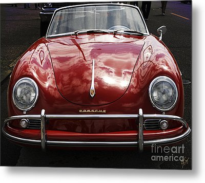 Metal Print featuring the photograph Flaming Red Porsche by Victoria Harrington