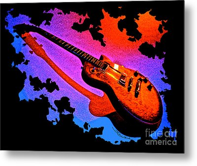 Flaming Rock Metal Print by Gem S Visionary