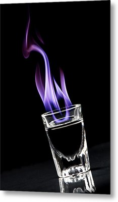 Flaming Sambuca Metal Print