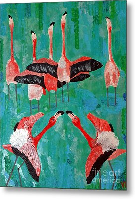 Flamingo 3 Metal Print by Vicky Tarcau