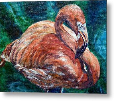 Flamingo Flare Metal Print