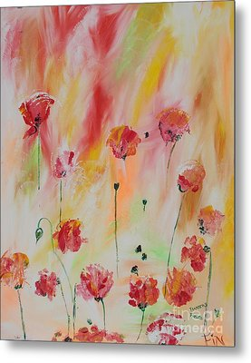 Metal Print featuring the painting Flanders Field by PainterArtist FIN
