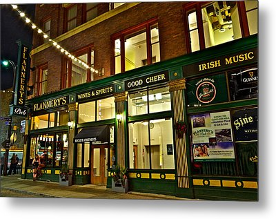 Flannerys Pub Metal Print by Frozen in Time Fine Art Photography