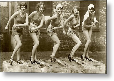 Flapper Girls Metal Print