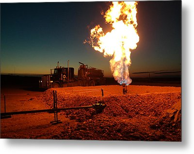 Flare And A Vacuum Truck Metal Print by Jeff Swan