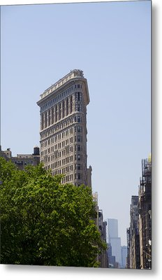 Flat Iron Building Metal Print by Bill Cannon