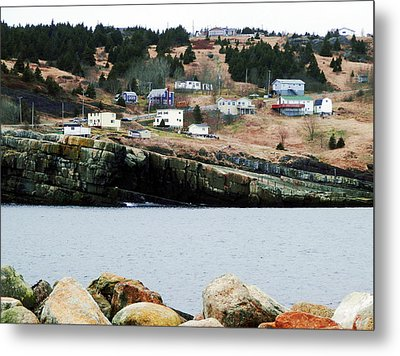 Flat Rock Metal Print by Zinvolle Art