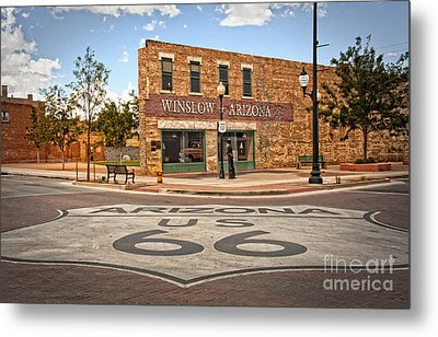 Flatbed Ford And Winslow Route 66 Metal Print