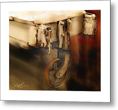 Metal Print featuring the painting Flatbed Trolley by Bob Salo