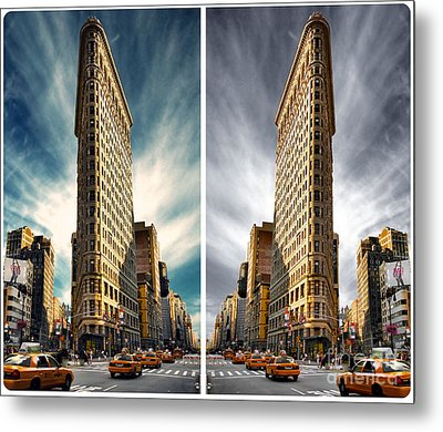 Flatiron Building  Metal Print by AHcreatrix