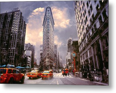 Flatiron Building Metal Print by John Rivera