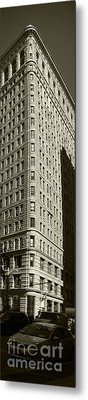 Flatiron In Sepia Metal Print by David Bearden