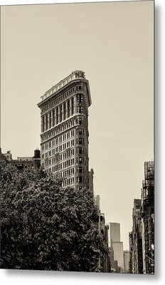 Flatiron In Sepia Metal Print by Bill Cannon