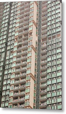 Flats In Kowloon Metal Print by Ashley Cooper