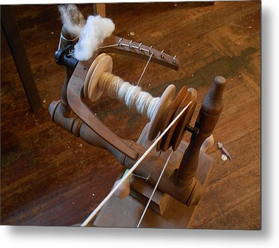 Metal Print featuring the photograph Fleece To Yarn by Aliceann Carlton