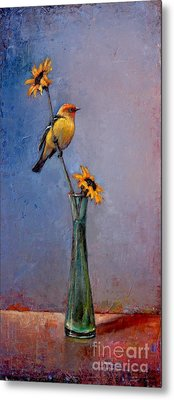Fleeting Summer Metal Print by Lori  McNee