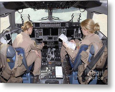 Flight Captains Review Flight Metal Print