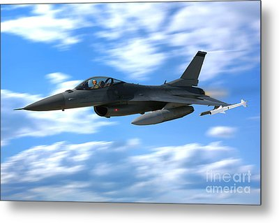 Flight Of The Falcon Metal Print by Olivier Le Queinec