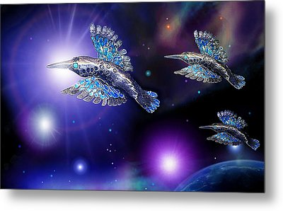 Flight Of The Silver Birds Metal Print by Hartmut Jager