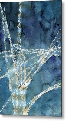 Flight Path- Abstract Painting Metal Print by Linda Woods