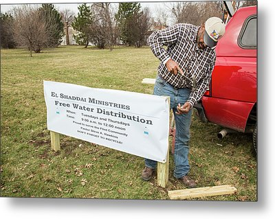Flint Drinking Water Distribution Metal Print