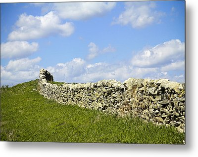 Metal Print featuring the photograph Flint Hills Rock Fence by Steven Bateson