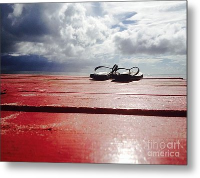 Flip Flop Cloud Metal Print