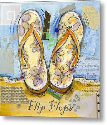 Flip Flops Metal Print