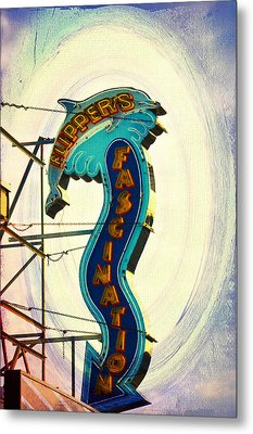 Flippers Facination - Wildwood Boardwalk Metal Print by Bill Cannon