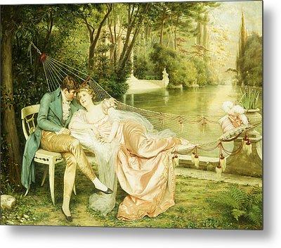 Flirtation  Metal Print by Joseph Frederick Charles Soulacroix