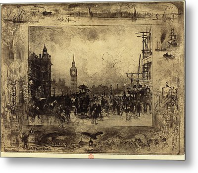 Félix-hilaire Buhot French, 1847 - 1898, Westminster Metal Print by Quint Lox