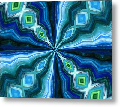Float Abstract Pattern 6 Metal Print