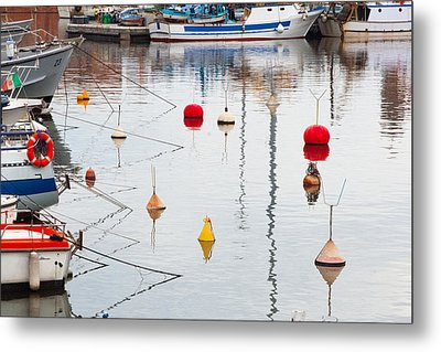 Float The Boats Metal Print