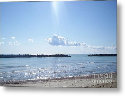 Metal Print featuring the photograph Floating Clouds by Ramona Matei