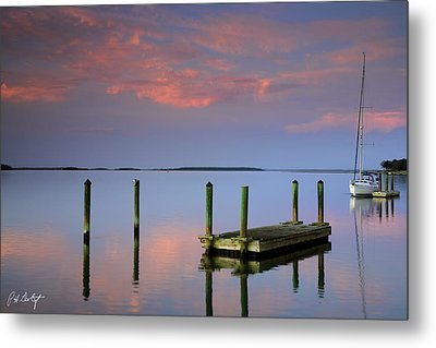 Floating Docks Metal Print by Phill Doherty