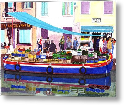 Floating Grocery Store Metal Print by Mike Robles