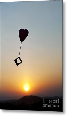 Floating Hearts Metal Print by Tim Gainey