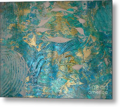 Metal Print featuring the painting Floating II by Fereshteh Stoecklein