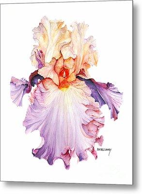 Floating Iris 2 Metal Print by Rachel Lowry