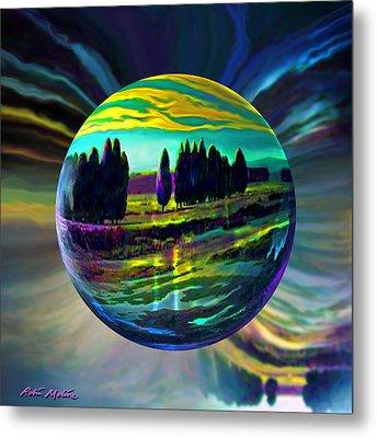 Floating Lavender Fields  Metal Print by Robin Moline