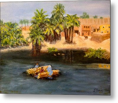 Floating On The Nile Metal Print
