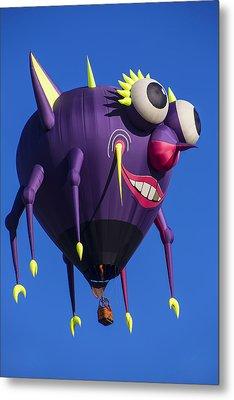 Floating Purple People Eater Metal Print by Garry Gay
